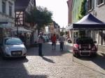 Automeile in der Fußgängerzone