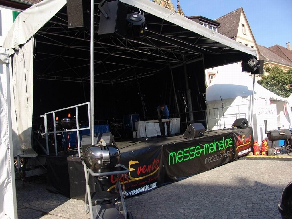 Bühne am LebensArt-Markt in Bretten