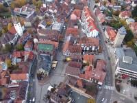 Luftbild vom Marktplatz Bretten