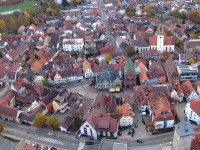 Luftbild von der Brettener Innenstadt